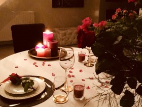 Table d hote romantique - Flowers Bouquet service en chambre - Services